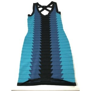 C Lective Blue Fitted Strap Tank Dress M/L? Read